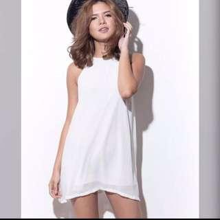 Shopcopper White Flowy Dress