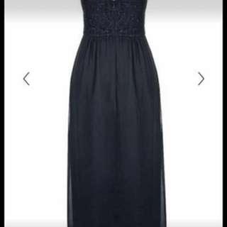 City chic navy long dress