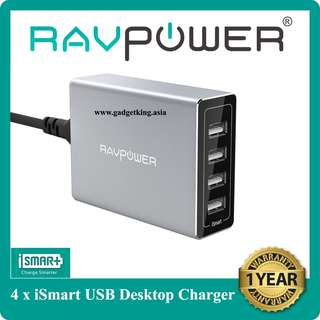 Porsche 40W/8A 4-port Desktop Charger