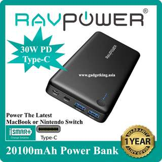 [IN-STOCK] 20100mAh Power Bank with 30W PD Type-C Port + Hub Transfer Function