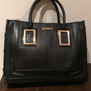 River island black top handle bag