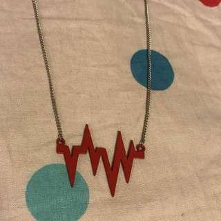 """心電圖長頸鏈 long necklace (Approx. 78cm/ 30"""")"""
