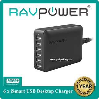 [IN-STOCK] 60W/12A 6-port Desktop Charger