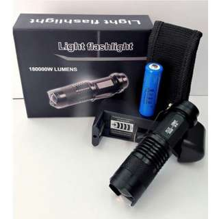 Light flashlight (180000W lumens)
