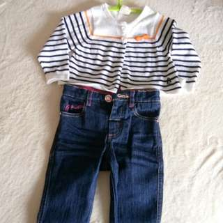 Jumper n denim hush puppies 6-12mths