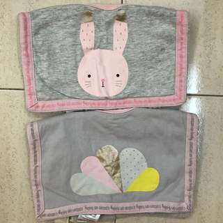 Cotton On Kids Baby Bib for Baby Girl