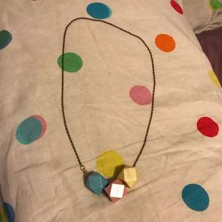 """Wooden Block Necklace (Approx 62cm/24"""")"""