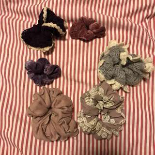6 Assorted Fabric Hair Bands ($5 Each)