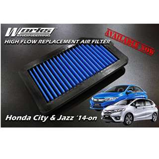 Works Engineering Air Filter - Honda Jazz GK / City GM6 '14-on (MAIN DISTRIBUTOR)