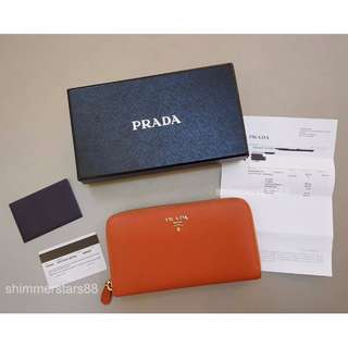 💜Authentic Prada wallet with receipt & cards 100% Authentic