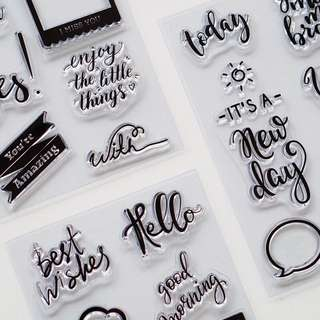 [LOVEdoki] Hello! Clear Planner stamps