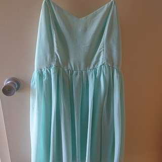 Light blue supre dress