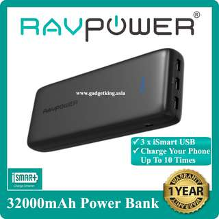 32000mAh Power Bank with Triple iSmart USB Ports