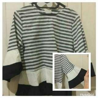Blouse Stripe Black