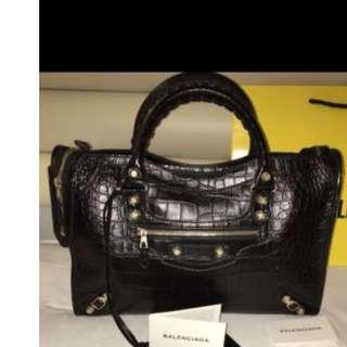 7d200bd4c6 Balenciaga Giant 12 City Croc-Embossed Bag