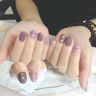 🚚 體驗 手足光療凝膠 優惠 質感 冬天 秋冬 時尚 紫