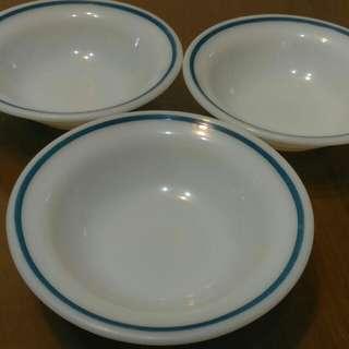 Corning Pyrex tableware 沙拉碗/湯碗3個