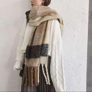 冬天大圍巾