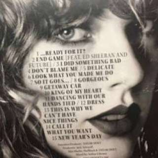Taylor Swift Reputation CD ONLY Magazine NOT included