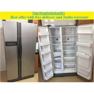 Samsung (560L) side by side doors fridge / refrigerator ($450 with free 🚚 ➕  2mths warranty)