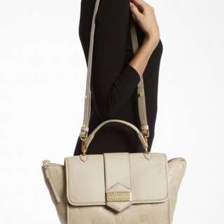Marc by Marc Jacobs beige soft leather top handle bag $500