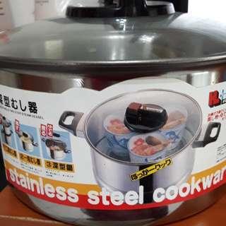 🚚 過年降價不鏽鋼全新鍋加蒸鍋