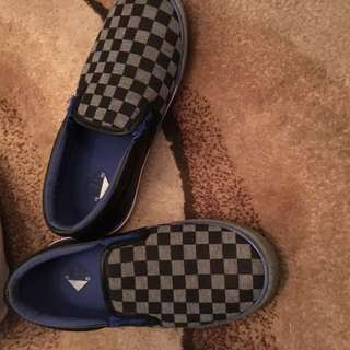 Boys Checkered Loafers