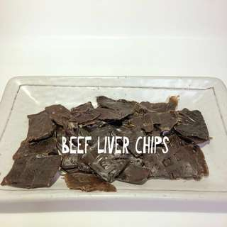 Dehydrated Beef Liver Chips 50g
