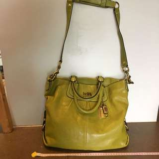 Coach leather bag 真皮手袋