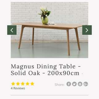 Brand new Scandinavian dining table