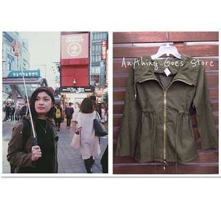 Army Green Parka Jacket (with/without hood)