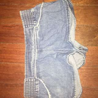 Low waisted denim shorts