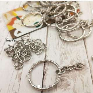 DIY jewelry accessory key ring chain Keychain accessories handmade materials ( 10Pcs/set)