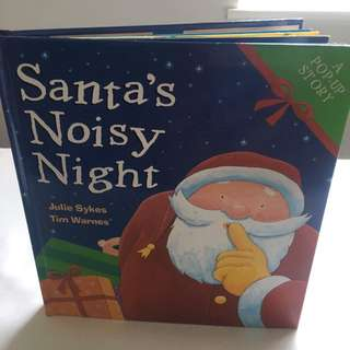 Santa's Noisy Night brand new pop up book