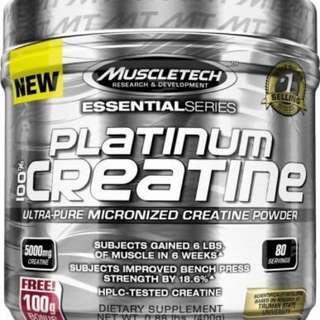 健身 高CP值營養品 Muscletech Platinum 100% Creatine 白金級肌酸 400克 80份