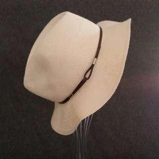 Summer Fedora Offwhite Hat