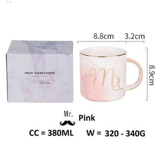 Mr & Mrs Classic Marble Texture Cup Mug / Wedding Gift