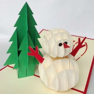 Handcrafted 3D Pop-up Christmas Card Brand New