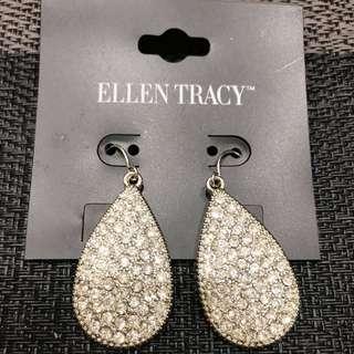 🚚 特價‼️ELLEN TRACY 奢華鑽耳環