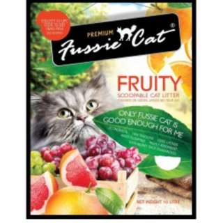 [Bundle] New Pack of 5 Fussie Cat Scented Litter 10L