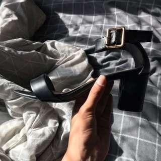 beautiful black heels AU women's size 7