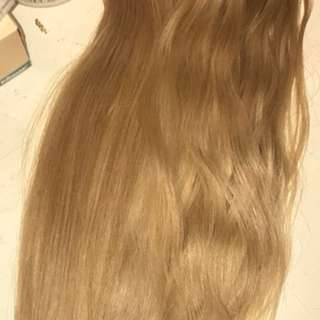 Head and a 1/2 human tape hair extensions
