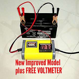 🌟BESTSELLING Motorcycle Battery Charger 🌟 Free Voltmeter