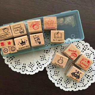Wooden Stamp with Case
