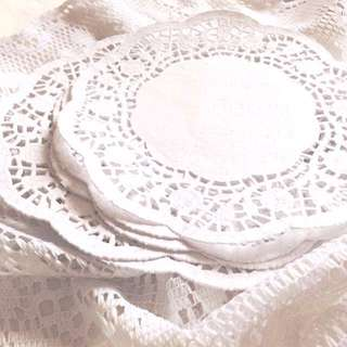 "[Set of 25] Pretty Lil Paper Doilies - Pack Of 6.5"" Sheets."