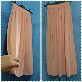 long skirt light pink