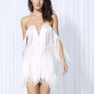 BNWT Atelier Off Shoulder Fringe Dress (RRP $199)