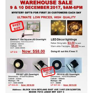 Warehouse Sale LED Lights for new homes