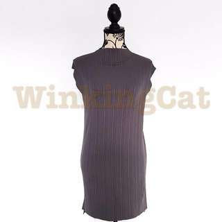 (D161)Vintage Ribbed Dress