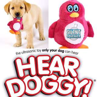Brand New Hear Doggy Small Penguin Ultrasonic Silent Squeaker Dog and Puppy Plush Toy